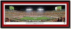 Alabama 2013 BCS Football National Champions Panoramic Print matted
