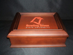 Bowling Green State University Logo Wooden Gift Box