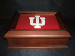 Indiana University Logo Wooden Gift Box