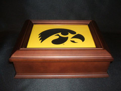 Iowa Hawkeyes Logo Wooden Gift Box
