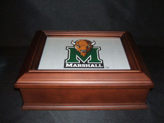 Marshall University Logo Wooden Gift Box