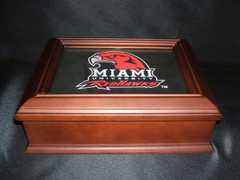 Miami University Logo Wooden Gift Box