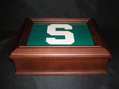 Michigan State University Logo Wooden Gift Box