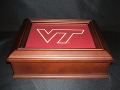 Virginia Tech Logo Wooden Gift Box