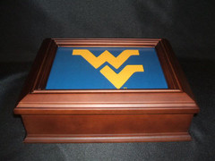 West Virginia University Logo Wooden Gift Box