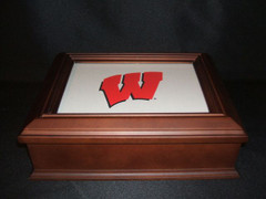Wisconsin Logo Wooden Gift Box