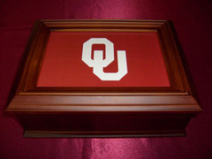 Oklahoma University Logo Wooden Gift Box
