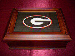 Georgia Bulldog Logo Wooden Gift Box