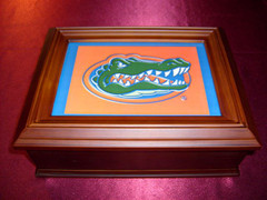 Florida Gators Logo Wooden Gift Box