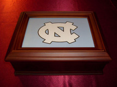 North Carolina Logo Wooden Gift Box