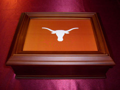 Texas Logo Wooden Gift Box