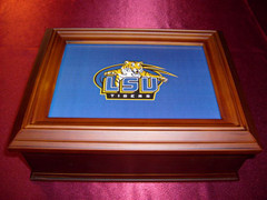 Louisiana State University Logo Wooden Gift Box