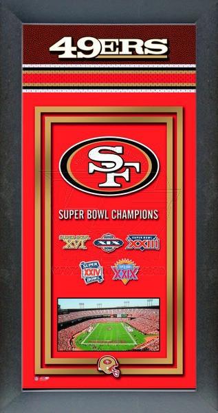 San Francisco 49ers Super Bowl Championship Banner Framed