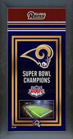St. Louis Rams Super Bowl Championship Banner