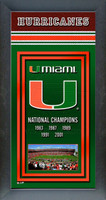 Miami Hurricanes Championship Years Framed Poster