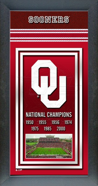 Oklahoma Sooners Championship Years Framed Poster