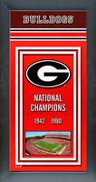 Georgia Bulldogs Championship Years Framed Poster