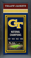 Georgia Tech Championship Years Framed Poster