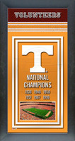 Tennessee Vols Championship Years Framed Poster