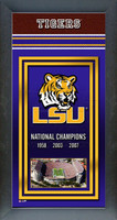 LSU Tigers National Championship Years Framed Picture