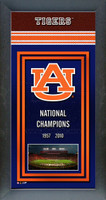 Auburn Tigers National Championship Years Framed Picture