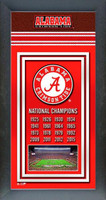 Alabama National Championship Years Framed Picture