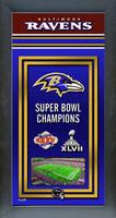 Baltimore Ravens Super Bowl Championship Banner