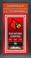 Louisville Cardinals Basketball Championships Framed Poster