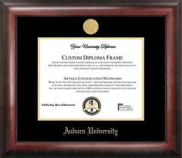 Auburn University Gold Embossed Diploma Frame