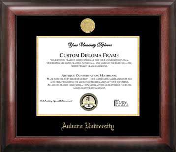 Auburn University Gold Embossed Diploma Frame