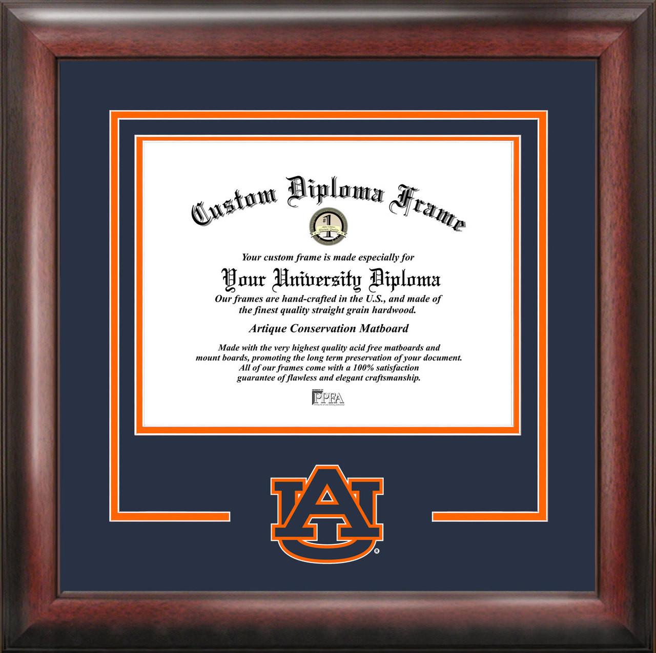 Auburn University Spirit Diploma Frame, Certificate Framing