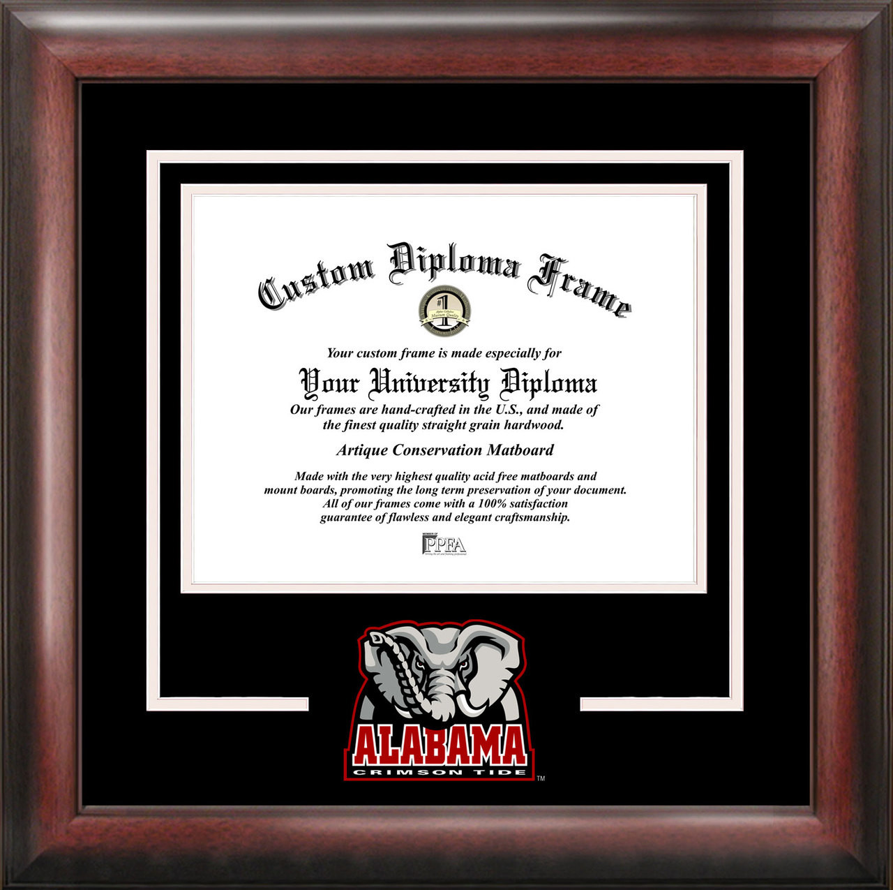 766b0364b71 University Alabama Spirit Diploma Framing