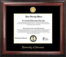 Arkansas Gold Embossed Diploma Frame