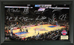 Detroit Pistons Team Signature Framed Picture