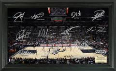 San Antonio Spurs Team Signature Framed Picture