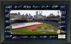 Detroit Tigers Signature Framed Picture