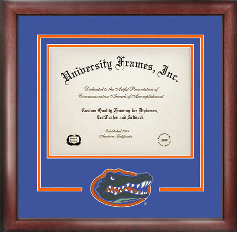 university of florida spirit diploma certificate frame