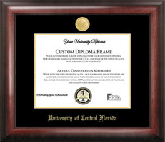 University of Central Florida Gold Embossed Diploma Frame