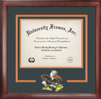 University of Miami Spirit Diploma School Logo Frame