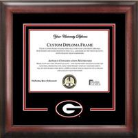 University of Georgia Spirit Diploma School Logo Frame