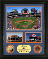 Mets Citi Field Infield Dirt, Coin and Photos