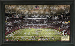 Atlanta Falcons Signature Framed Picture