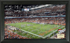 Denver Broncos Signature Framed Picture