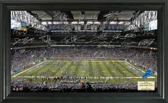 Detroit Lions Signature Framed Picture