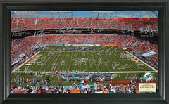 Miami Dolphins Signature Framed Picture