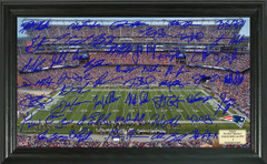 New England Patriots Signature Framed Picture