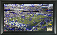 San Diego Chargers Signature Framed Picture