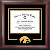 University of Iowa Spirit Diploma School Logo Frame