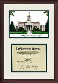 Iowa Scholar Diploma Frame, Certificate Framing