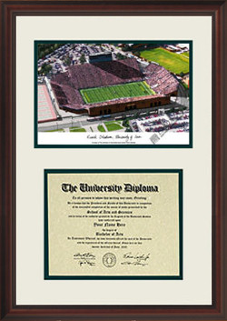 University of Iowa Scholar Diploma Frame